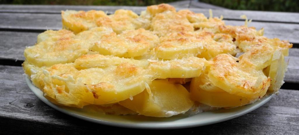 tortino di patate e aringa