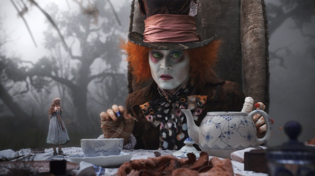 Una scena di Alice in Wonderland di Tim Burton