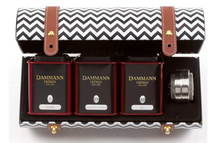 Tra le novità Dammann Freres i cofanetti in stile Chevron